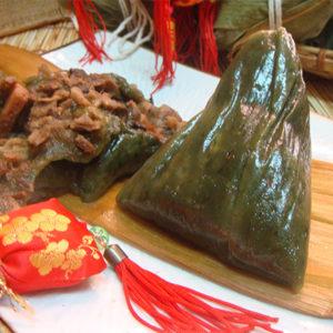 客家艾草粿粽
